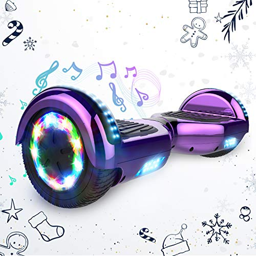 "HITWAY Hoverboard, 6,5"" LED Lights Elektro Scooter mit APP Funktion, Elektro Self Balance Board Hover E-Scooter mit Bluetooth Lautsprecher, Self Balancing Scooter für Kinder"