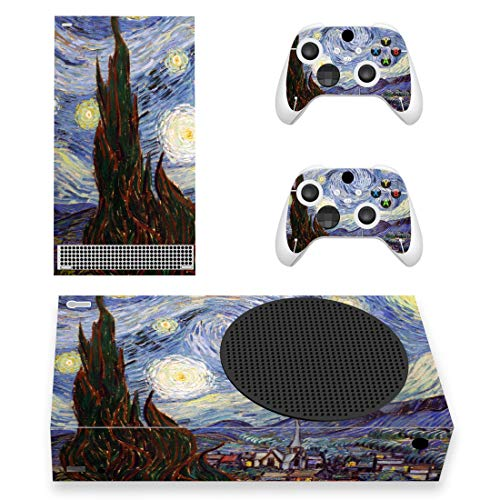 PlayVital The Starry Night Custom Vinyl Skins for Xbox Series S, Wrap Decal Cover Stickers for Xbox Series S Console Controller