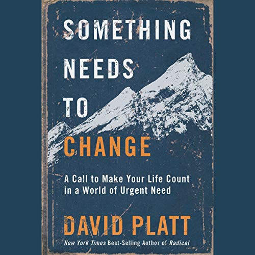 Something Needs to Change Audiobook By David Platt cover art