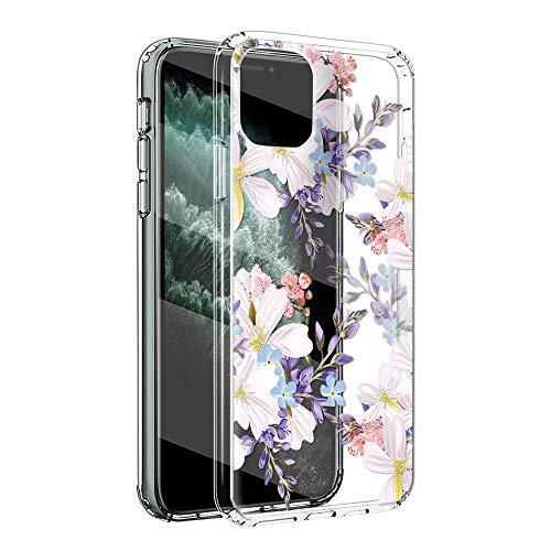 Yoedge Funda Compatible con Samsung Galaxy J4 Plus 6', Ultrafina Silicona Transparente Suave TPU Carcasa Protector, [Antigolpes] Flexible Anti-arañazos Protección Caso con Patrón Diseño, Flor 2