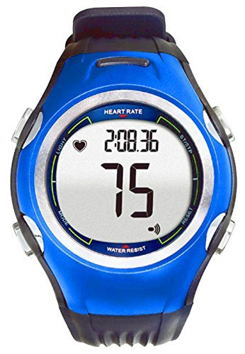 Spec Orologio da poso Sportivo con misuratore di frequemza cardiaca e Calorie, Colore Blu