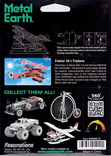 Fascinations Metal Earth Fokker Dr. I Triplane 3D Metal Model Kit