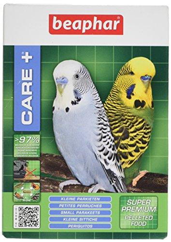 BEAPHAR – CARE+ – Alimentation Super Premium extrudée et équilibrée pour petite perruche – 97% d'ingrédients biologiques – Nutriments naturels préservés – Répond aux besoins des oiseaux – 250 g