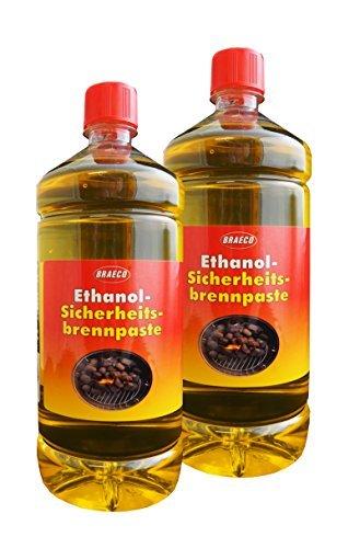 2 x Ethanol-Sicherheitsbrennpaste 1000ml, Brennpaste, Anzündpaste, Anzündgel