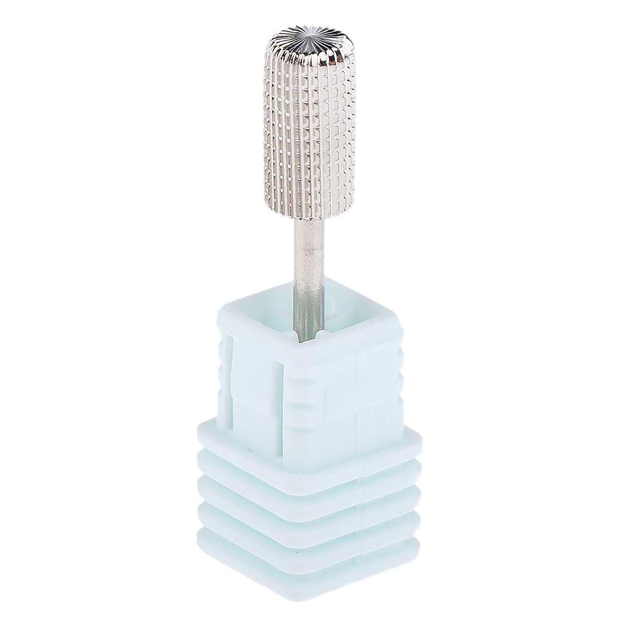 伸ばすうねる不屈B Blesiya ネイルドリルビット 電動 粗研削工具 ネイルサロン 交換用 2色選べ - シルバーM
