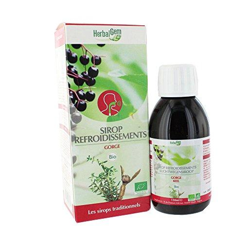 HerbalGem Sirop Refroidissements Bio 150 ml