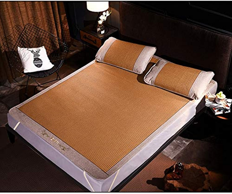 Mattress - Mat Folding Summer Bamboo Mat, Student Dormitory Air Conditioning Mat, Safe and Burr-Free (Size   1.5x1.98m 59.1inx78in)