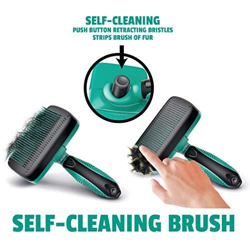 Ruff 'n Ruffus Self-Cleaning Slicker Brush + 2 Free Bonuses   7.5