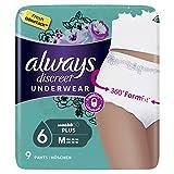 Always Discreet Inkontinenz Höschen Plus bei Blasenschwäche, Größe M, 1er Pack (1 x 9 Stück) - 6