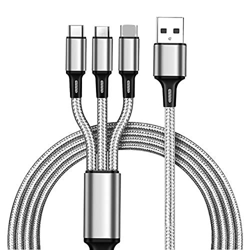 Aishtec 3 en 1 Multi Cable USB de Carga, Nylon Multi USB...