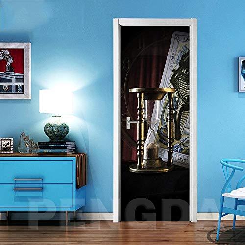3D Schritt Tür Aufkleber Neue Aufkleber Wandbild Sanduhr DIY Selbstklebende Wasserdichte Tapete Druck Kunst Poster Renovierung Für Wohnkultur