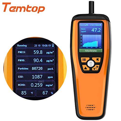 D/étecteur de qualit/é de lair Int/érieur professionnel Temp/érature et humidit/é moniteur pr/écise les tests Formaldebyde avec Pm2.5//PM10//Hcho//Aqi//particules Lkc-1000s