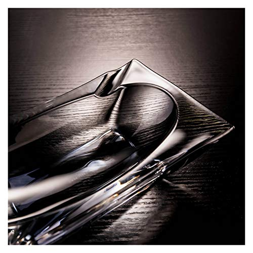 WAGA Creatividad Cenicero de Cristal cenicero Personalidad de Moda con Forma de Bote de Bote a Mano de Moda, decoración de la Oficina en el hogar Hombres Decoración hogareña