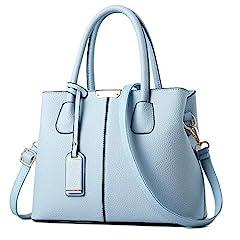 UTILITY: Shoulder Purse, Handbag , Tote, Crossbody bag ,Messenger Bags MATERIAL: High Quality PU Leather DIMENSIONS: 12.2L * 9H * 5.2W inches (31cm*23cm*13cm), Height of Handle: 5.9 inch (15cm) POCKETS: 1 Exterior Back Zipper Pocket,2 Interior Zipper...