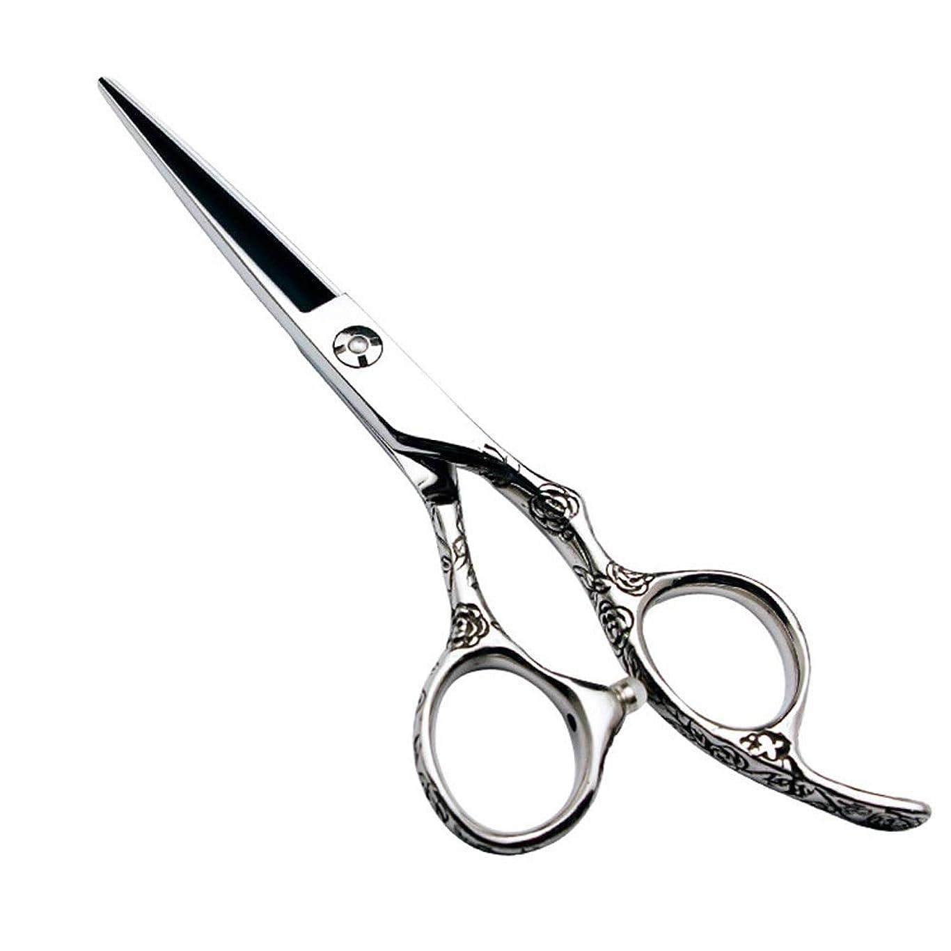 リーフレット課税ルアーGoodsok-jp 6インチの美容院の専門の理髪セットの理髪はさみのローズハンドル440C (色 : Silver)