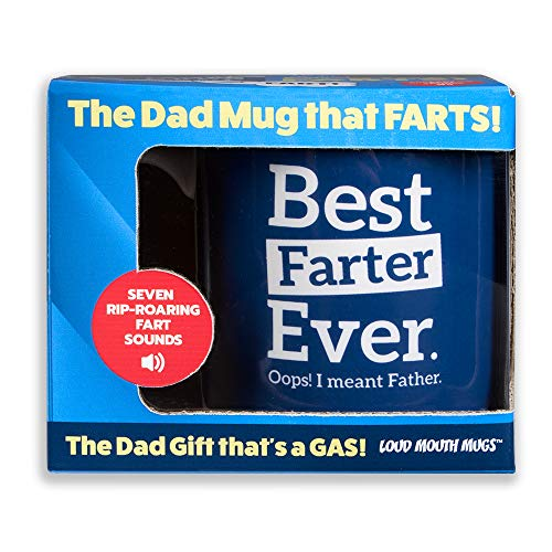 Farting Coffee Mug - Best Farter Ever Oops I Meant Father - 7 Fart Sounds - Best Gifts for Dad from Daughter/Son/Wife - Worlds Best Dad Mug - Novelty Coffee Mugs for Birthday/Father's Day/Christmas