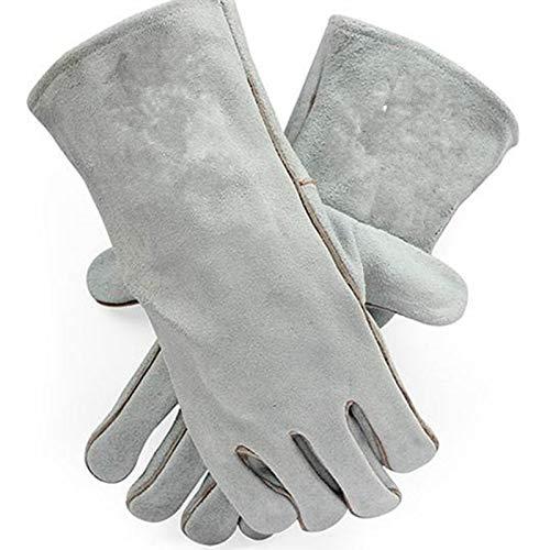 AKDSteel Anti-Biss-Handschuhe für Haustiere, Katzen, Papageien, Schlange und Eichhörnchen grau
