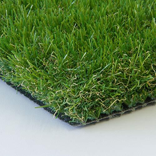Steffensmeier Kunstrasen Highland | Unsere Nr. 1 der Rasenteppiche | 47 mm weicher dicker Flor | Absolut realistisches Aussehen, Größe: 100x300 cm