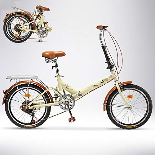 TopBlïng Velocidad Variable Folding Bike Marco De Aluminio,Mujeres Bike Estudiantes Bicicleta,para Urbana Conmutar Ciudad Ciclismo,20 Pulgadas Adulto Bicicleta Plegable-Velocidad Variable B