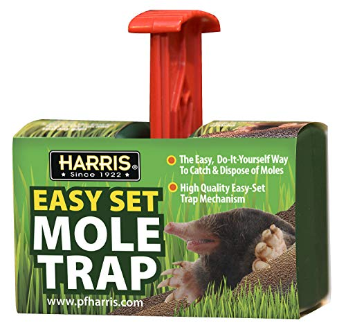 Harris Easy Set Mole Trap, Mole Killer for Lawns and Alternative to Poisons and Repellents