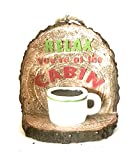 """Rue Noel Country Style """" Relax You're at The Cabin"""" Christmas Tree Ornament"""