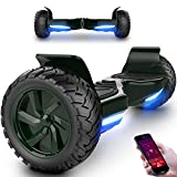 MARKBOARD Overboard, Gyropode Hover Scooter Board 8,5 Pouces SUV Bluetooth&App, Self-Balance E-Scooter Tout Terrain avec LED,700W Moteur Skateboard