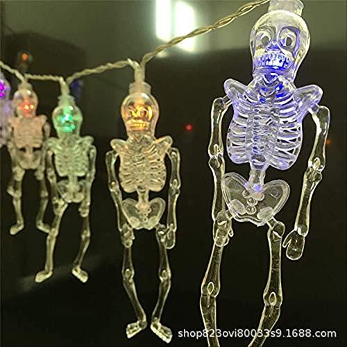 Halloween Light String Transparent Skull Frame Light Frame Light Color Lantern Ghost Festival Decoration Light String Terrorist Atmosphere Layout Led 6m