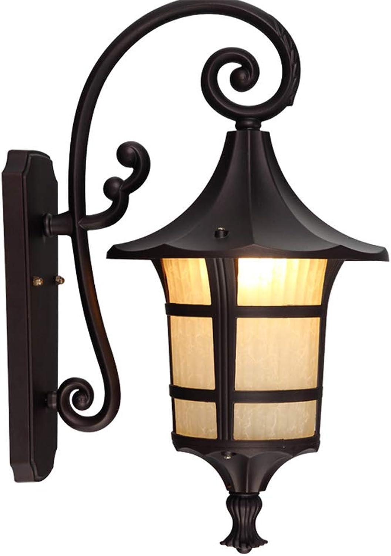 CMDDYY Wasserdichte Outdoor-Wandlampe, Garten Villa Im Europischen Und Amerikanischen Stil Retro-Wohnzimmer Balkon Lampe, Korridor Licht Garten Auerhalb Der Wand Lampe E27,1