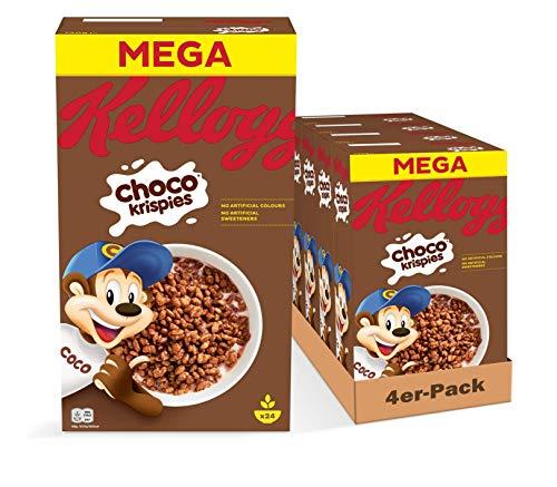 Kellogg's Choco Krispies Cerealien | 4er Vorratspack | 4 x 720g