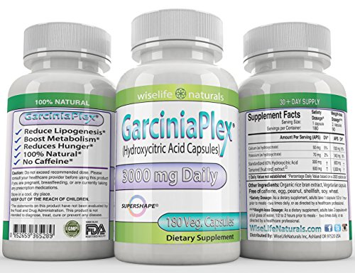 Fat Burner | Appetite Control | Weight Loss Formula 180 Caps Dr Recommended Pure Garcinia Cambogia Extract HCA, 1500 mg - 3000mg Best Formula of all Diet Pill Kit That Works for men and women over 40