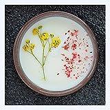 UKKO Velas aromaticas Vela con Aroma A Flores Secas Europeas Y Americanas con Cera De Soja con Vegetal, Aceite, Set De Velas Sin Humo,-H