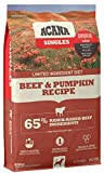 Acana Singles Limited Ingredient Dry Dog Food, Grain Free, High Protein, Beef & Pumpkin, 25lb
