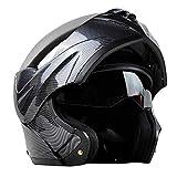 Casco da motociclista in fibra di carbonio, casco integrale per motociclisti,...