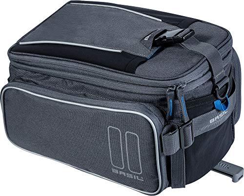 Basil Unisex– Erwachsene Sport Design Gepäckträgertasche, Graphite, One Size