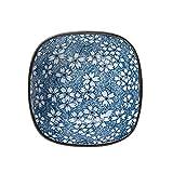 HJXSXHZ366 Keramikschale Japanische Kreative Keramik Geschirr Druck Platz Schüssel Reis Schüssel Salatschüssel Sauce Dish-6 Stile (Color : E)