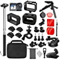 TONCHU 32-in-1 Expansion Accessories Kit for DJI OSMO Action Camera+Gopro Mounts,Osmo Action Kit Inclouding Carrying Case/Camera Border/Silicone Case/Filter/Lens Protection Cover/Tripod and More from TONCHU