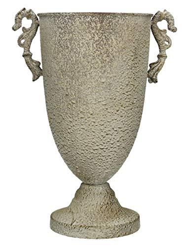 Metall Amphore Pflanztopf | Metall | Dunkelgrau | 32x16,5cm