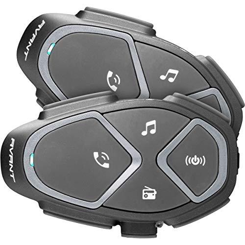 INTERPHONE INTERPHOAVANTTP Bluetooth Auriculares Manos Libres para Casco Moto Dual, Negro