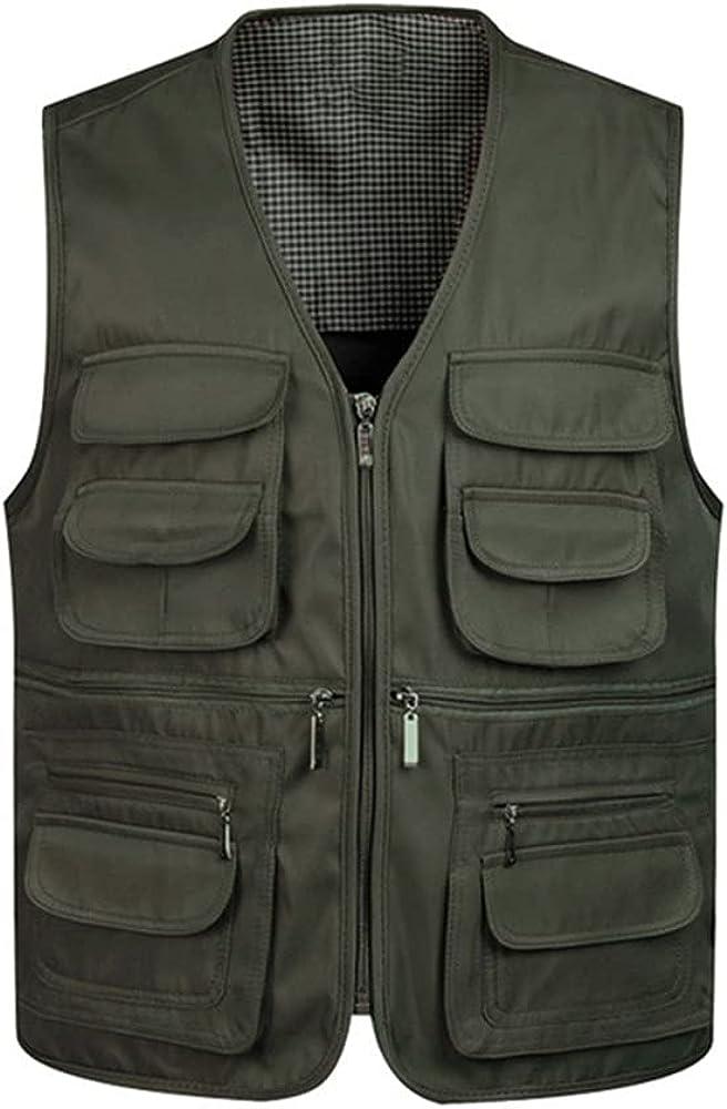 Men's Classic Vest Work Vest Mesh Vest for Sleeveless Men's Portable
