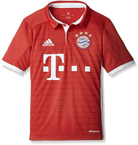 adidas Jungen Fußball/Heim-trikot FC Bayern München Replica Heimtrikot, FCB True Red/White, 152