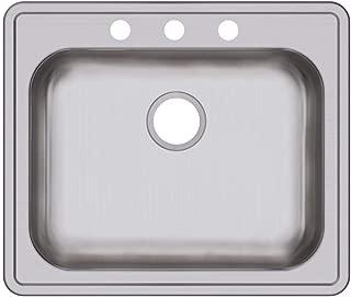 Elkay GE125213 Dayton Single Bowl Drop-in Stainless Steel Sink