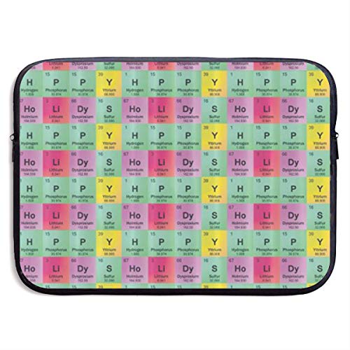 Science Teacher Funny Elements Periodic Table Biology Physics Laptop Sleeve Shoulder Bag For Women, Protective Carrying Case Compatible With 13-15 Inch MacBook Pro, Air, Notebook,Slim Sleeve
