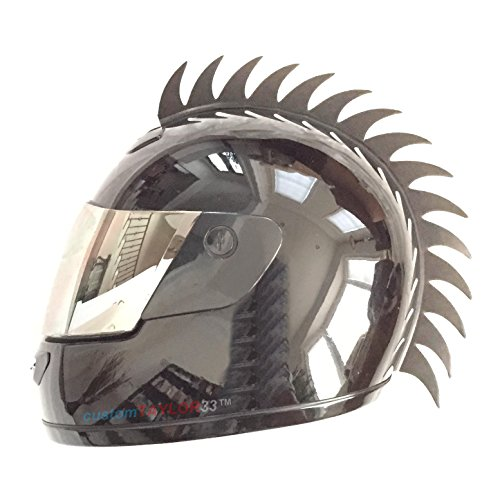 customTAYLOR33Zubehör für Motorradhelm, Design Warhawk/Mohawk zum Verzieren des Helms, Sägeblatt aus Gummi (Helm nicht im Lieferumfang enthalten) - 6