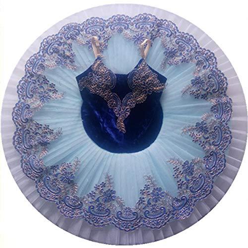 CHANGL Trajes de Baile de Ballet Azul Bailarina Niñas Niños Niño Adulto Bella Durmiente Ballet Tutu Swan Lake Vestido Mujeres Etapa Rendimiento