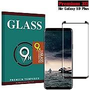Panzerglas Schutzfolie für Samsung Galaxy S9 Plus, Hjsang Hohe Qualität 3D Displayschutzfolie [Ultra Klar] [9H Härtegrad] [Anti-Kratzen] [Anti-Fingerabdruck] [Einfache Installation] Gehärtetes Glas Panzerglas Folie für Samsung Galaxy S9 Plus