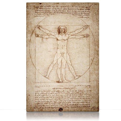 CanvasArts Vitruvianischer Mensch Leonardo Da Vinci - Leinwandbild (60 x 40 cm, Leinwand auf Keilrahmen)