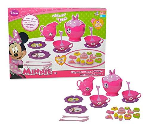 MEDIA WAVE store Servizio da tè Completo di Minnie 084229 con 35 Accessori e dolcetti