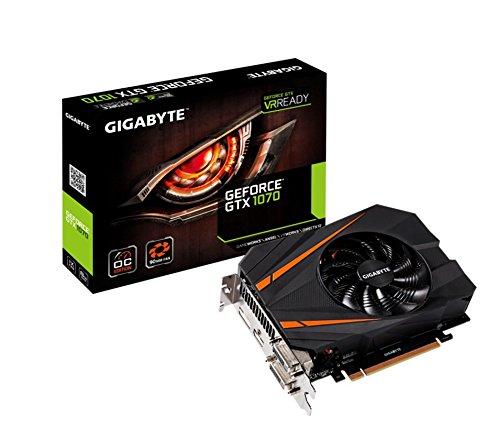 Gigabyte GeForce GTX 1070 Mini ITX OC 8GB GDDR5 Graphics Cards GV-N1070IXOC-8GD