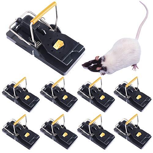 Mausefalle Profi-MäUsefalle, Mausefalle, Mäusefalle Rattenfalle Köder 8 x Profi Mausefalle Schlagfalle, Mäusefalle wiederverwendbar,rattenfalle einfaches Hygienisch in Haus Garten Drinnen Draußen