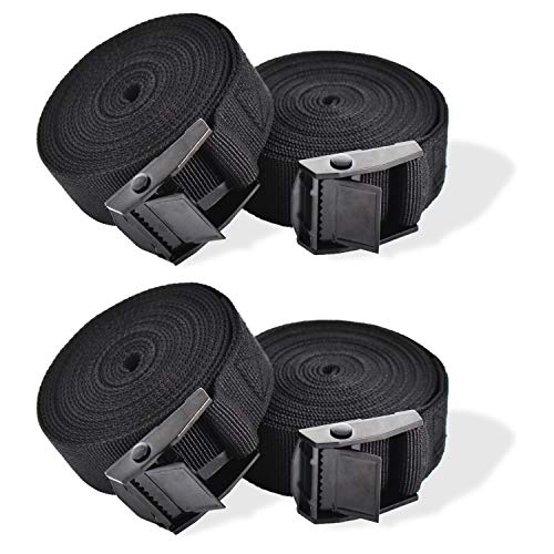 RIO Direct 4 Pack Ratchet Tie Down Straps, Heavy Duty Tensioning Belts...